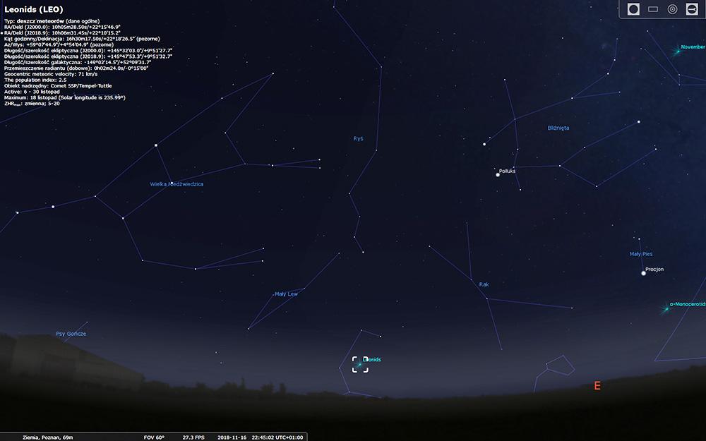 Leonidy - kolejna noc spadających gwiazd