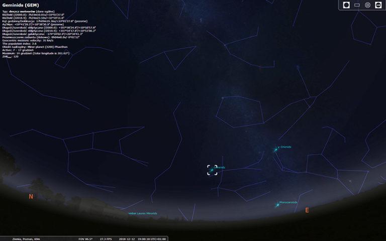 Geminidy – ostatnia noc spadających gwiazd w tym roku