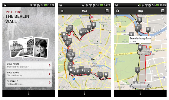 aplikacja Mur Berliński