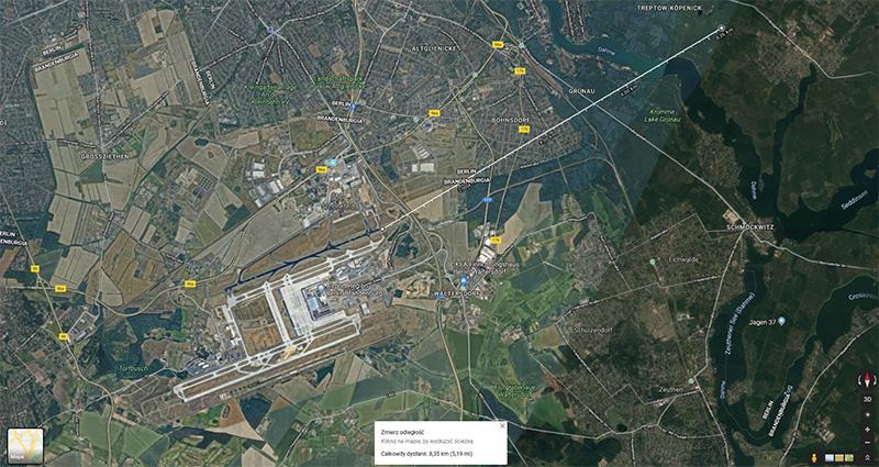 ścieżka podejścia do lotniska
