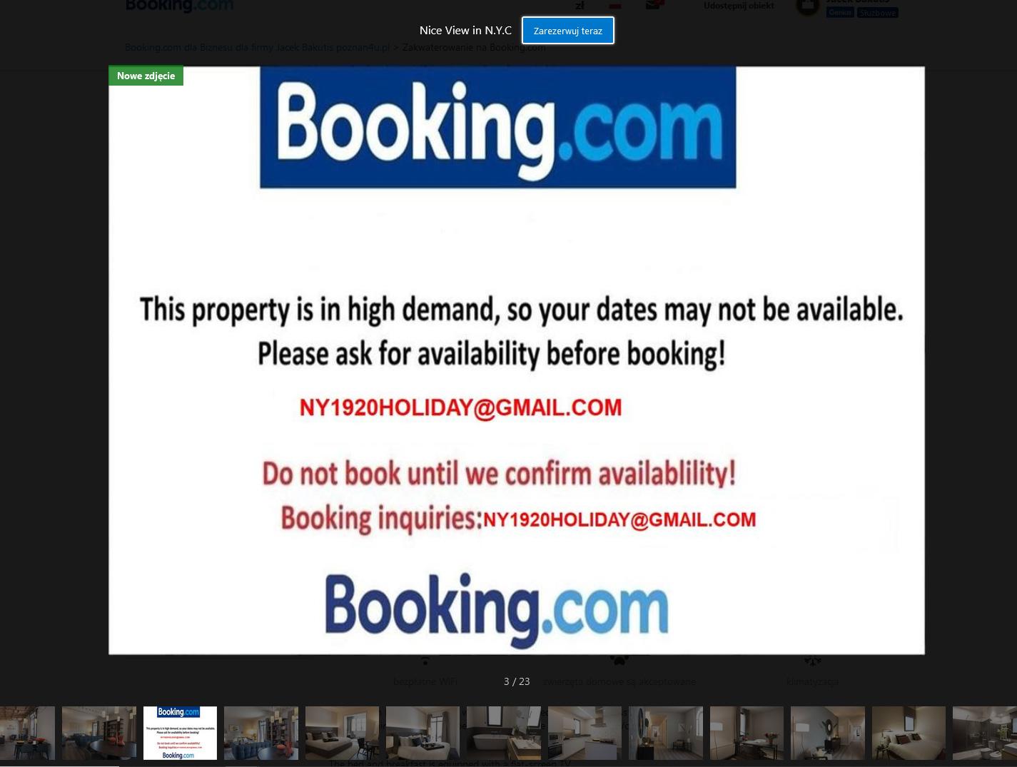 Fałszywy apartament na booking.com