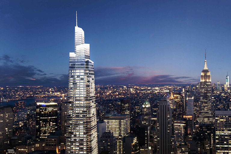 Za rok nowy punkt widokowy na Manhattanie