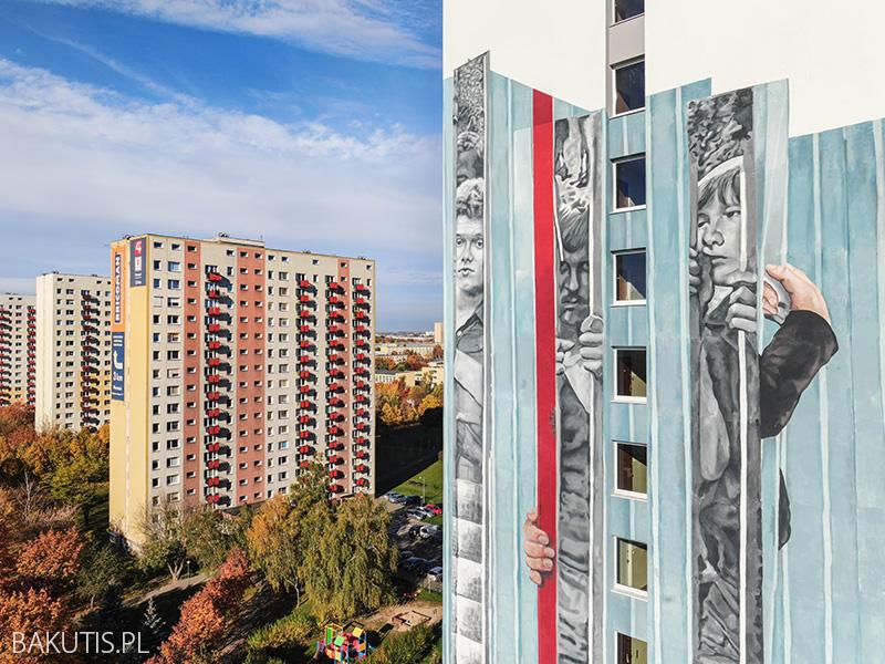 Nowy mural na Winogradach