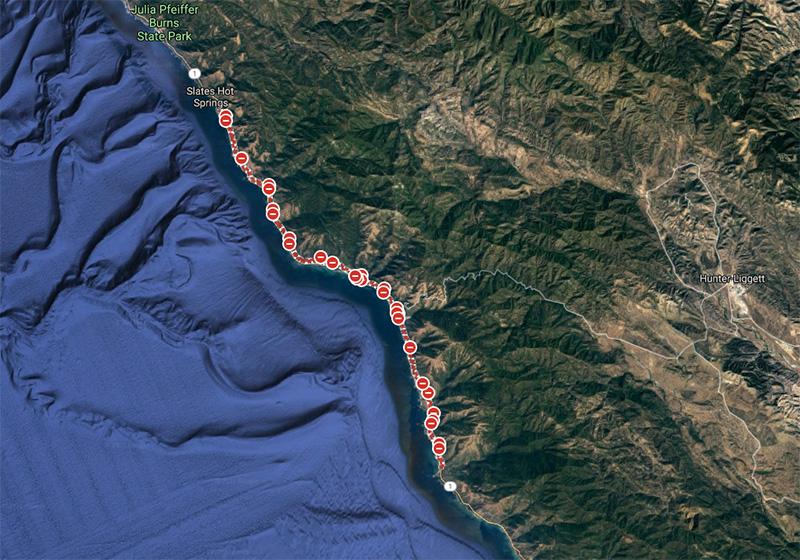 kaliforniijska 1 zamknięta na lata